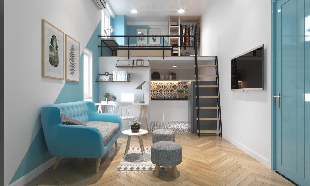 Mẫu thiết kế nhà nhỏ 3x5 đơn giản đẹp